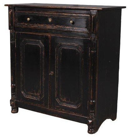 Candelabra Home Solid Elm Wood Cabinet - Traditional - Storage Cabinets - by Candelabra