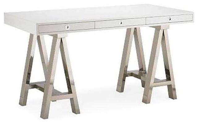 SOLD OUT! Williams-Sonoma Home Mason White Wood/Glass Desk ...