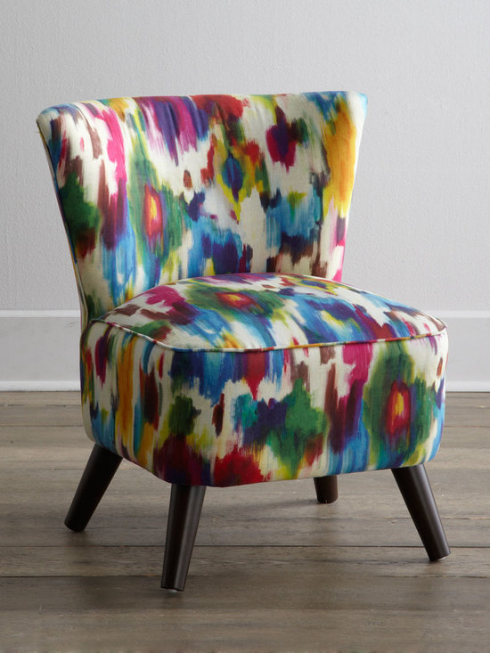 Horchow - Spritzi Chair - This pretty little colorful chair reminds me of Bambi when he first tried standing up with his legs splayed. A fun little accent like this can really brighten up a room.
