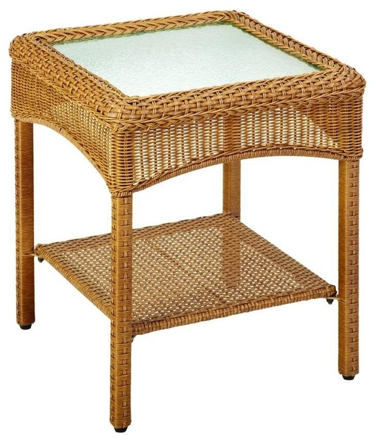 Martha Stewart Living Tables Charlottetown Natural All Weather Wicker Patio