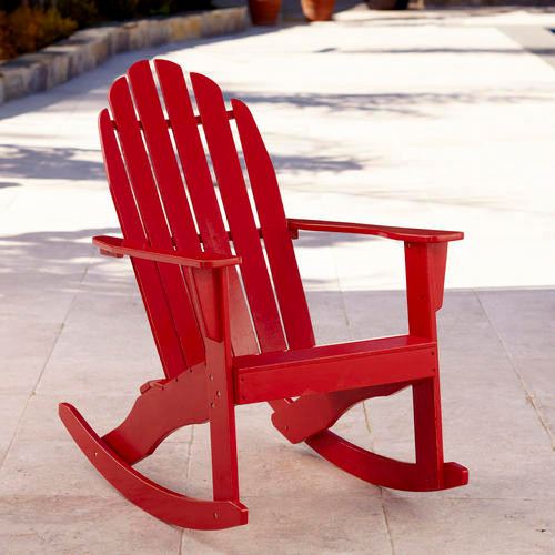 Pompeian Red Classic Adirondack Rocker Traditional