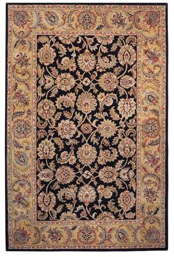 Classic Black/Gold Rug modern-rugs