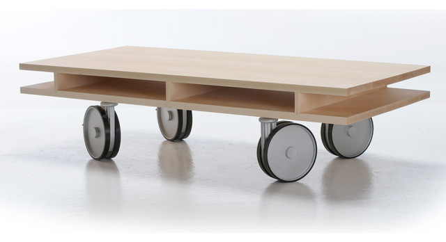 Caster Table Contemporary Coffee Tables