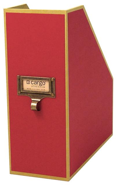 Cargo Atheneum Magazine File - Transitional - Storage Bins And Boxes - by Resource International ...