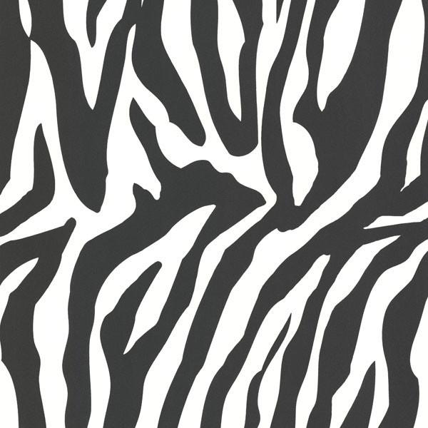 Zebbie White Zebra Print Wallpaper. modern-wallpaper