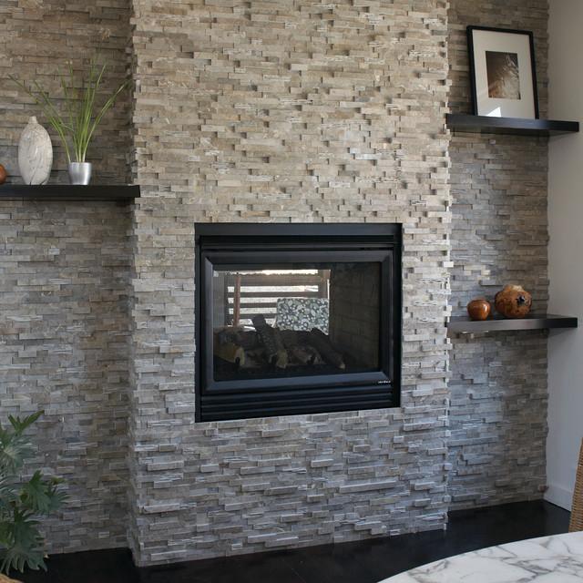 aZurastone Grigio Vanadeco - Contemporary - Indoor Fireplaces ...