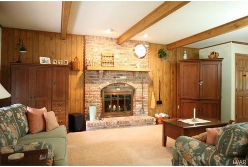 To Paint Not To Paint Wood Panel Wall Around Fireplace And