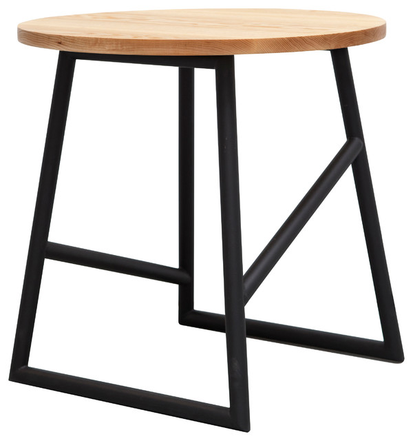 Algedi Table, Black/Oak contemporary-side-tables-and-end-tables