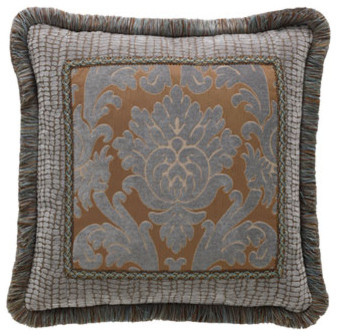 Legacy Home Bella Bed Linens Damask Pillow w/ Fringe traditional-sheets