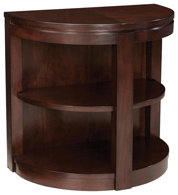 standard furniture nova half moon chairside table in dark cherry traditional side tables and. Black Bedroom Furniture Sets. Home Design Ideas