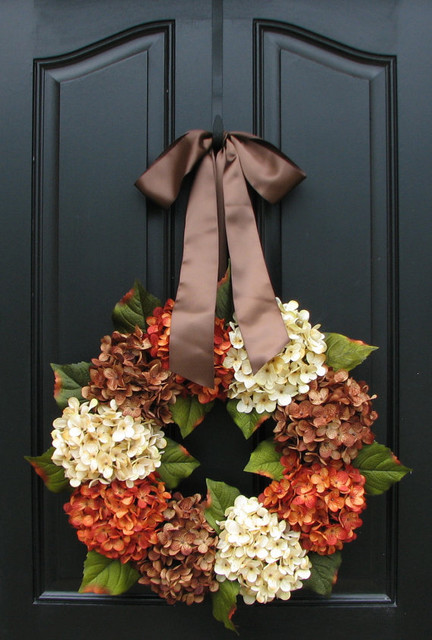 Fall Wreath by Two Inspire You contemporary outdoor decor