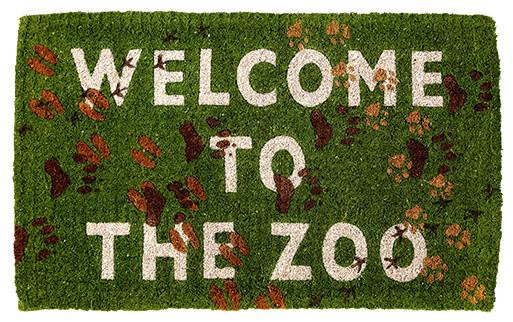 Welcome to the Zoo Delightful Doormat eclectic-doormats