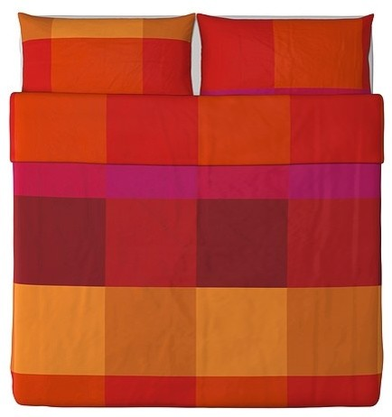 BRUNKRISSLA Duvet cover and pillowcase(s) modern-duvet-covers