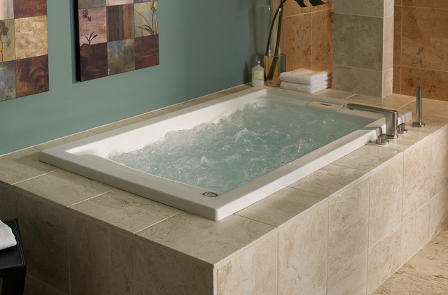 Evolution 5 x 36 deep soak everclean air bath bathtubs for How big is a standard tub
