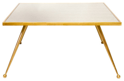 Worlds Away Arden Gold Leafed Coffee Table midcentury-coffee-tables
