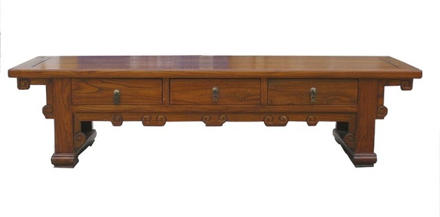Chinese Three Drawers Low Altar Coffee Table Asian Coffee Tables
