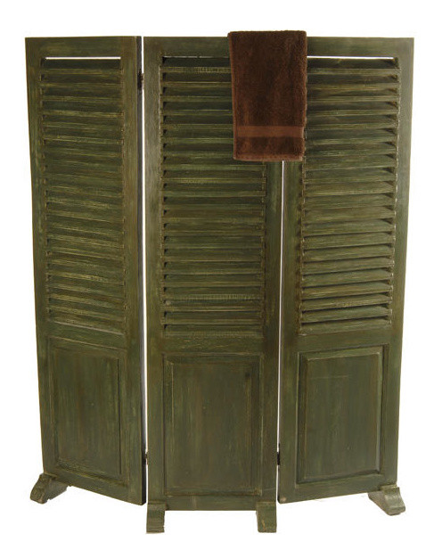 6 Ft Tall Solid Frame Fabric Room Divider 4 Panels: Hand Made Louvre Wooden Partition Changing Screen, Antique