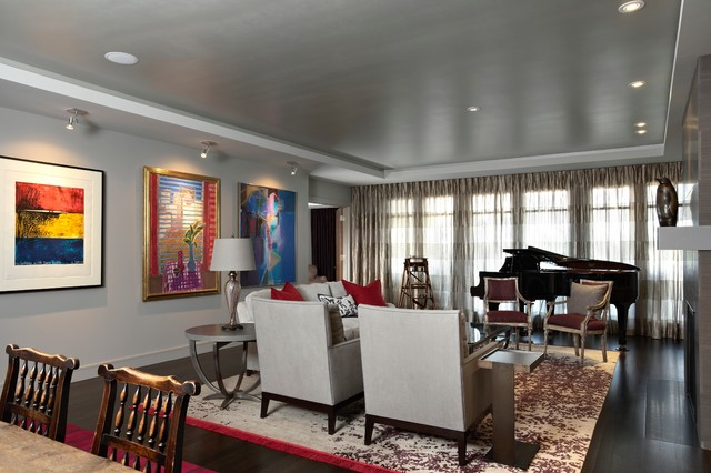 Modern Masterpiece eclectic-living-room