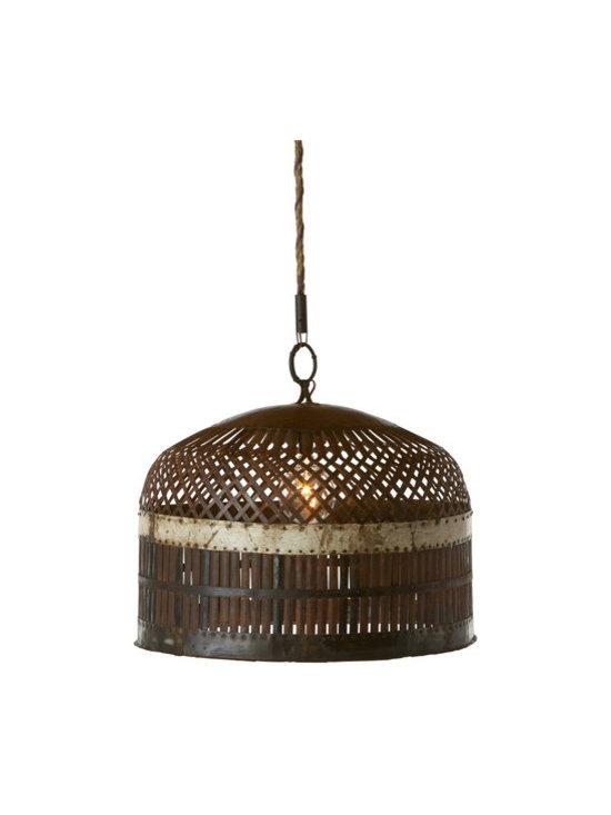 Metal Basket Lamp -