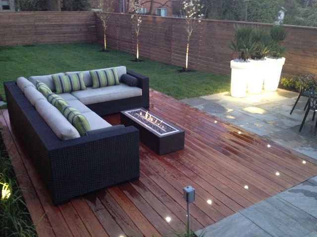 Outdoor Fire Pit Contemporary Patio