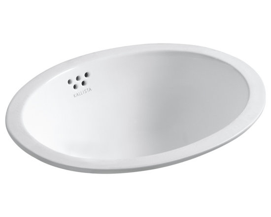 Michael S Smith Undercounter Basin with Overflow, Glazed -