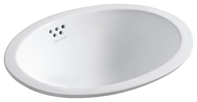 Michael S Smith Undercounter Basin with Overflow, Glazed contemporary-bathroom-sinks