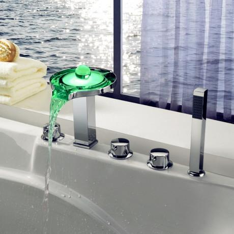 Modern Brass Body LED Faucet for Bathroom Chromed modern-bathroom-faucets-and-showerheads