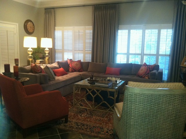 Updated Family Room transitional-living-room
