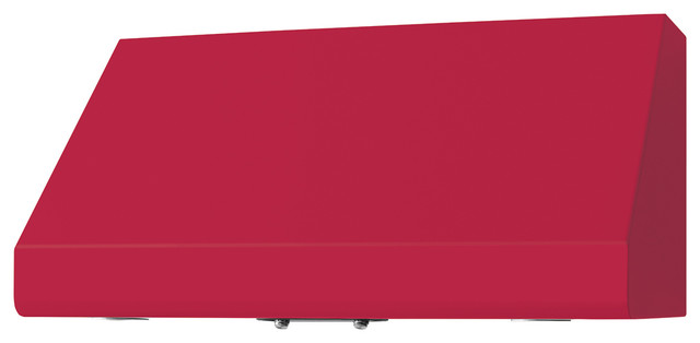 "36"" Prizer Incline Hood in Raspberry Red (RAL 3027) modern-range-hoods-and-vents"