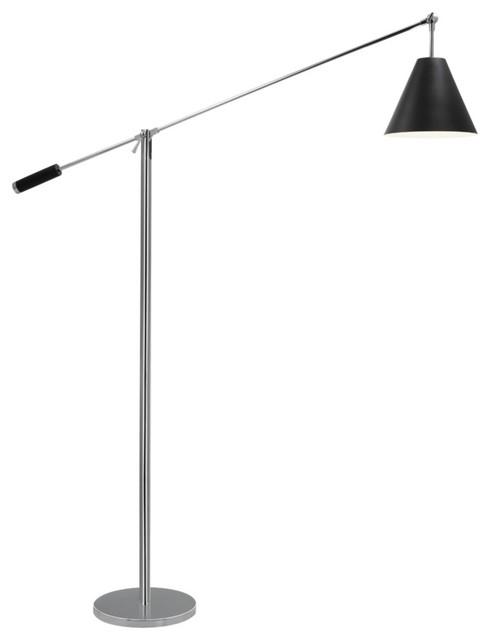 Sonneman Unoluci Black Floor Lamp contemporary-floor-lamps