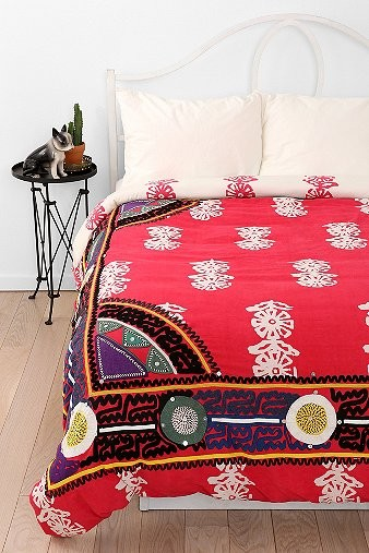 Magical Thinking Embroidered Frame Duvet Cover eclectic-duvet-covers-and-duvet-sets