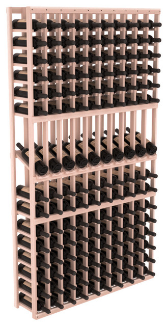 10 Column Display Row Wine Cellar Kit in Redwood, White Wash Stain contemporary-wine-racks