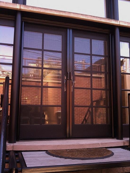Mirage retractable door screens french double doors for Retractable screen door for french doors