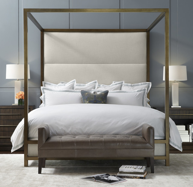 Banks four poster bed modern by mitchell gold bob williams - Contemporary canopy bed for a royal room ...