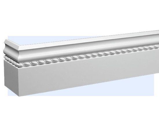 "Inviting Home - Rope Baseboard 8 foot long - Rope baseboard molding 5-1/2""H x 5/8""P baseboard sold in 8 foot length 4 piece minimum order required Baseboard Specifications: Outstanding quality baseboard made from technologically advanced high-density polyurethane. Baseboard is pre-primed with water-based white paint and has tough surface. Molding is ightweight durable and easy to install using common woodworking tools. Metal dies were used for consistent quality and perfect part to part match for hassle free installation. Baseboard has sharp deep and highly defined design and can be finished with any quality paints."