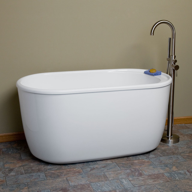 55 vada acrylic soaking tub contemporary bathtubs for Acrylic soaker tub