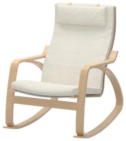 Po ng rocking chair dala natural scandinavian rocking chairs by ikea - Fauteuil rockincher ikea ...