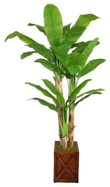 81 in banana tree with real touch leaves fiberstone for Artificial banana leaves decoration