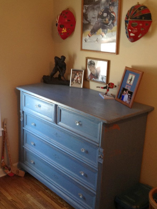 Boy's room - Antique chest of drawers in a little boy's room.