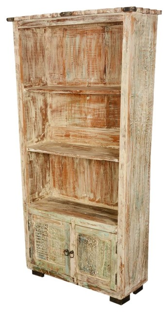 """Reclaimed Wood Scalloped 72"""" Display Bookcase - Rustic - Bookcases - by Sierra Living Concepts"""