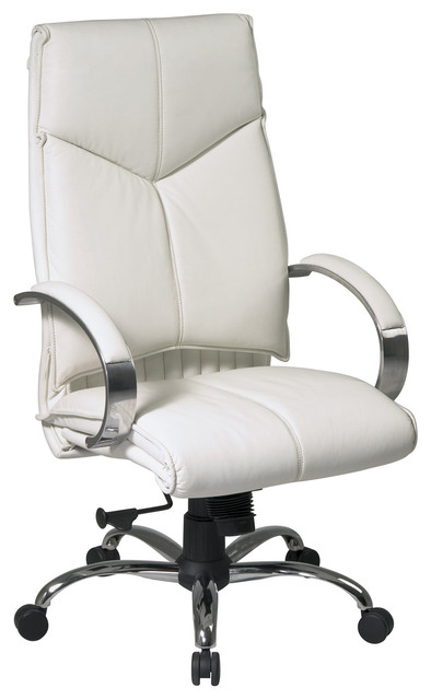 High Back White Executive Leather Office Chair Modern Office Chairs