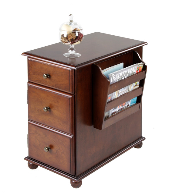 Krissy End Table With Magazine Rack Traditional Side Tables And By Dexter Sykes