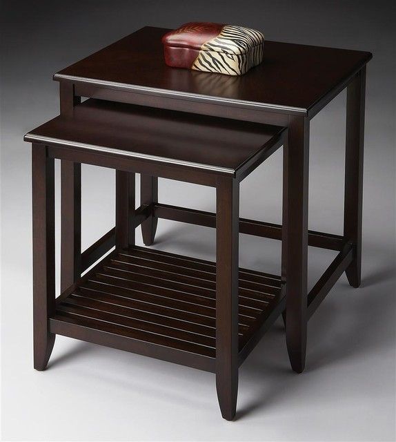 Nesting Tables in Merlot transitional-side-tables-and-end-tables