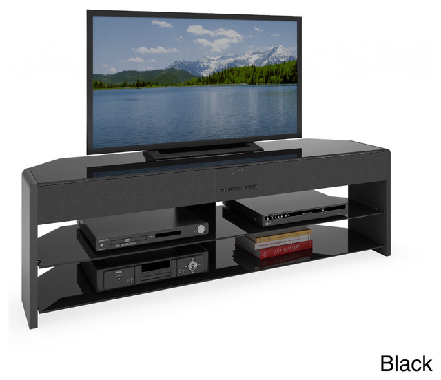 CorLiving Santa Brio 57-inch TV Stand with Sound Bar - Contemporary - Entertainment Centers And ...