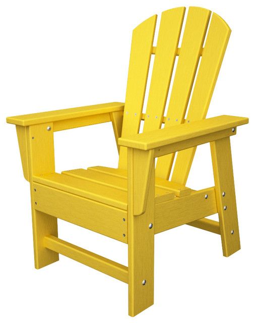 kids adirondack chair lemon all weather recycled plastic. Black Bedroom Furniture Sets. Home Design Ideas