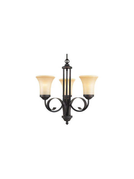 Royce Lighting - Royce Lighting Saltillo 3 Light Chandelier - The Marrakech collection from Royce Lighting will add a classical look to your outdoor decor. Designed by Deborah Shavlik, this 3-Light chandelier with beautiful scrollwork in espresso finish and sepia tinted glass is an absolutely terrific way to accent your home's exterior.