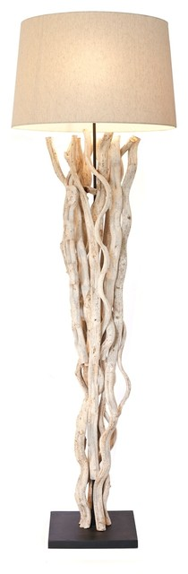 natural vine floor lamp coastal floor lamps by natural design. Black Bedroom Furniture Sets. Home Design Ideas
