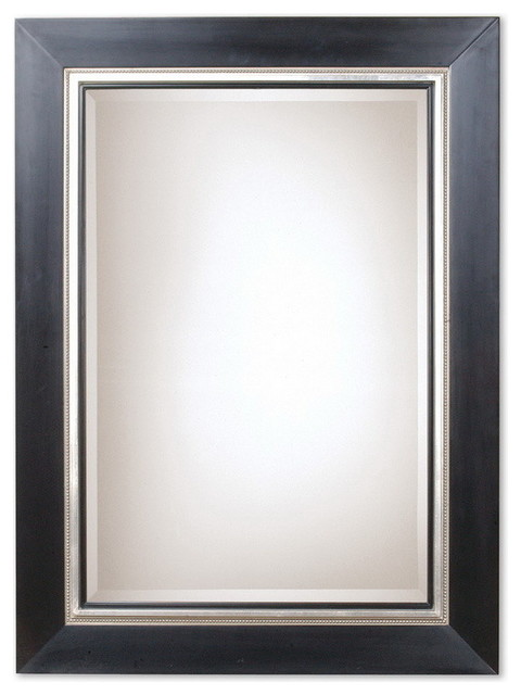 Uttermost 13131 B  Whitmore Black Wood Mirror transitional-mirrors