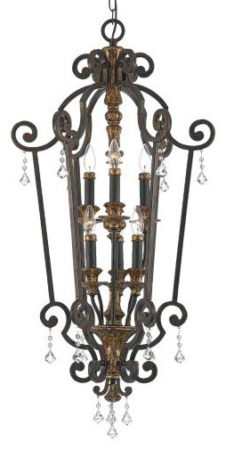 Marquette Foyer Pendant by Quoizel traditional-pendant-lighting
