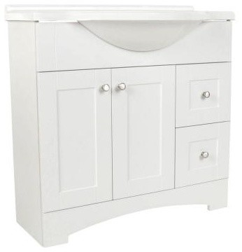 Woodcrafters Del Mar 36 In W Bathroom Vanity With Ab